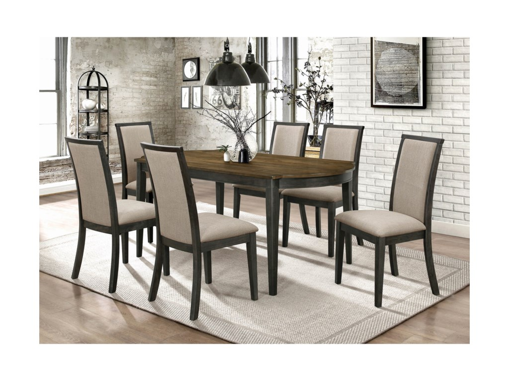 Coaster Clarksville7 Pc Dining Set