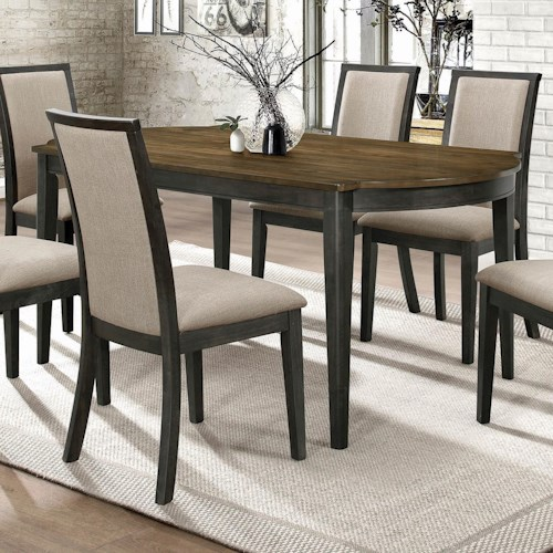 Coaster Clarksville Transitional Dining Table with 2-Tone Finish