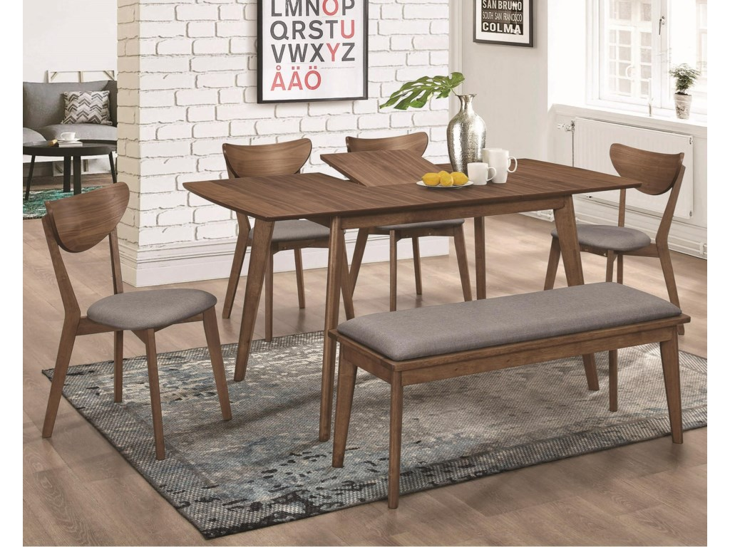 Coaster 1080Table and Chair Set with Bench