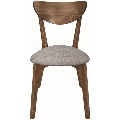 Coaster 1080 Mid-Century Modern Side Chair with Upholstered Seat