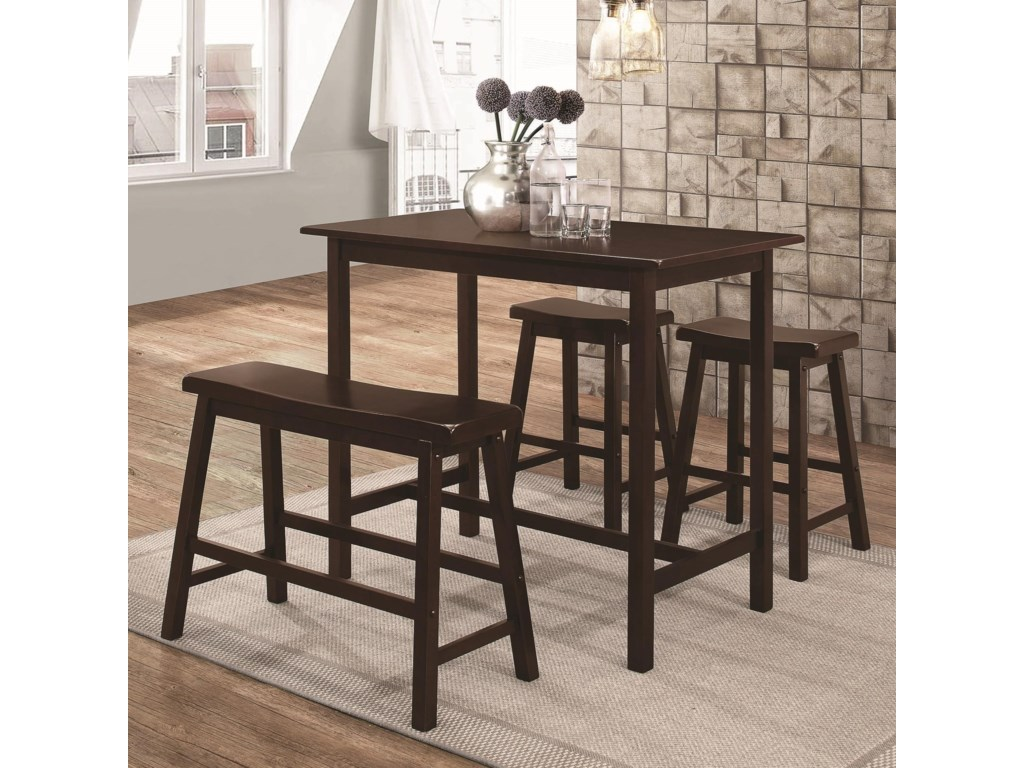 Coaster 108101Four Piece Counter Height Set