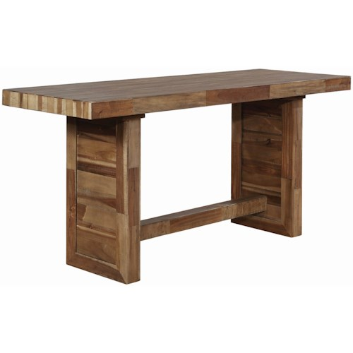 Coaster Barnes Rustic Counter Height Table