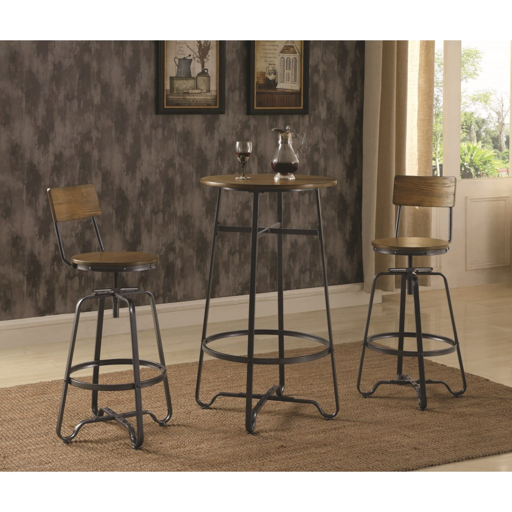 Coaster 182003 Industrial Pub Table Set For Two Aladdin Home Store