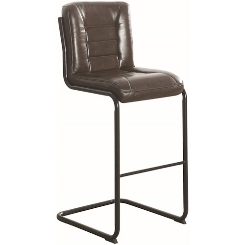 Coaster 1820 Industrial Bar Stool in Brown Leatherette
