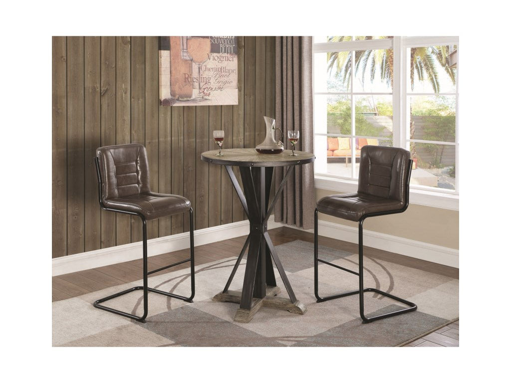 Coaster 1820Bar Stool, Brown