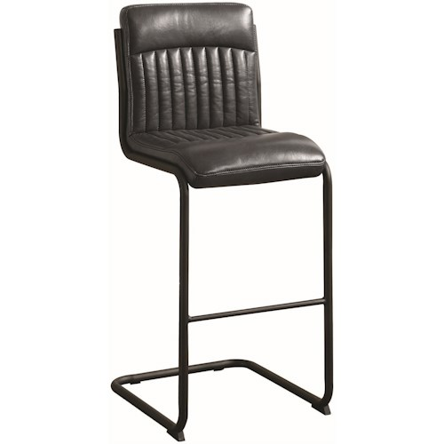 Coaster 1820 Industrial Bar Stool in Grey Leatherette