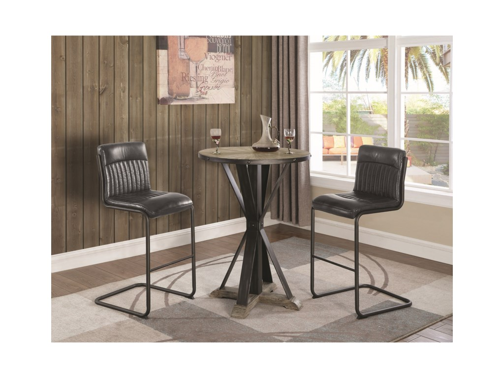 Coaster 1820Bar Stool, Grey