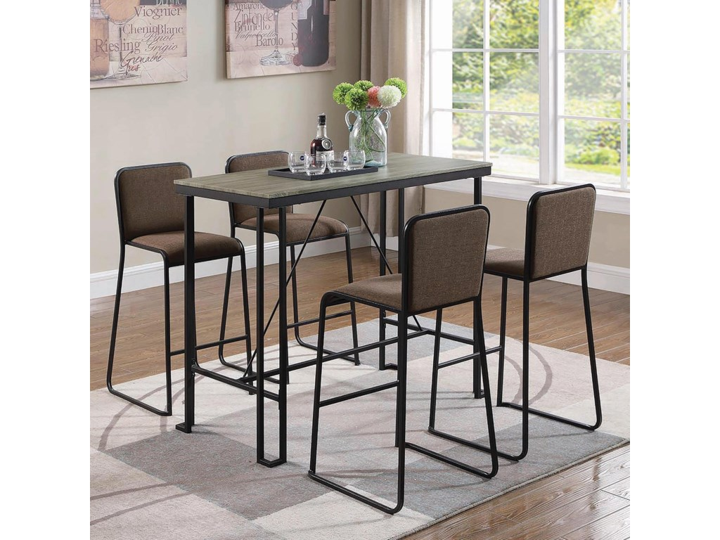 Coaster 182135 Pc Pub Dining Set