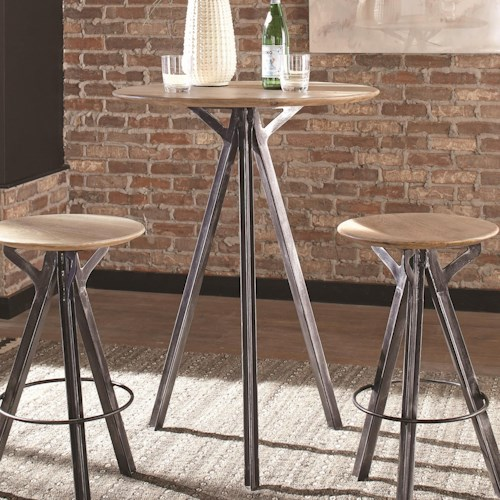 Coaster 18223 Bar Table with Wood Top