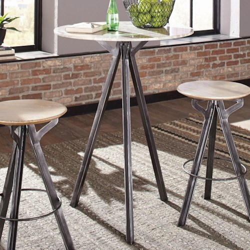 Coaster 18223 Bar Table with Marble Top