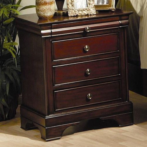 Coaster Versailles 3 Drawer Nightstand
