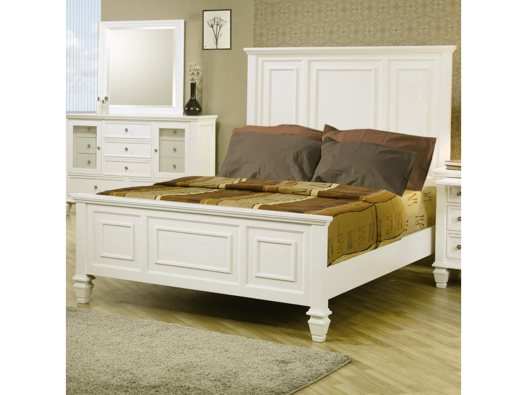 (Up to 40% OFF sale price) Collection # 2 Sandy BeachQueen Headboard & Footboard Bed