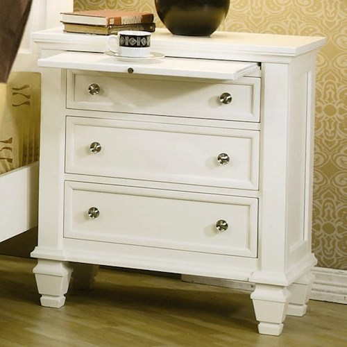 Coaster Sandy Beach Night Stand with 3 Drawers
