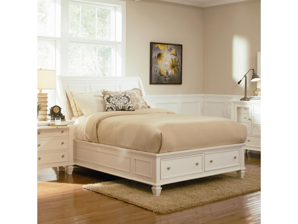 ROOMS # 2 Collection Sandy BeachQueen Sleigh Bed