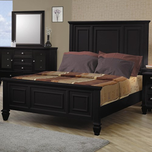 Coaster Sandy Beach Classic King High Headboard Bed