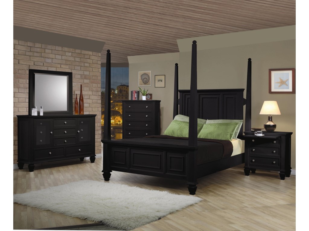 Shown in Room Setting with 11 Drawer Dresser, Mirror, Queen Bed, and 3 Drawer Nightstand