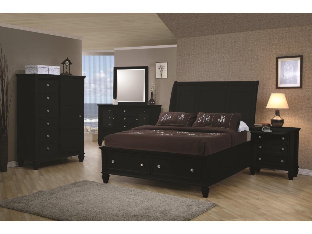 Shown with Nightstand, Dresser, Mirror and 8 Drawer Chest