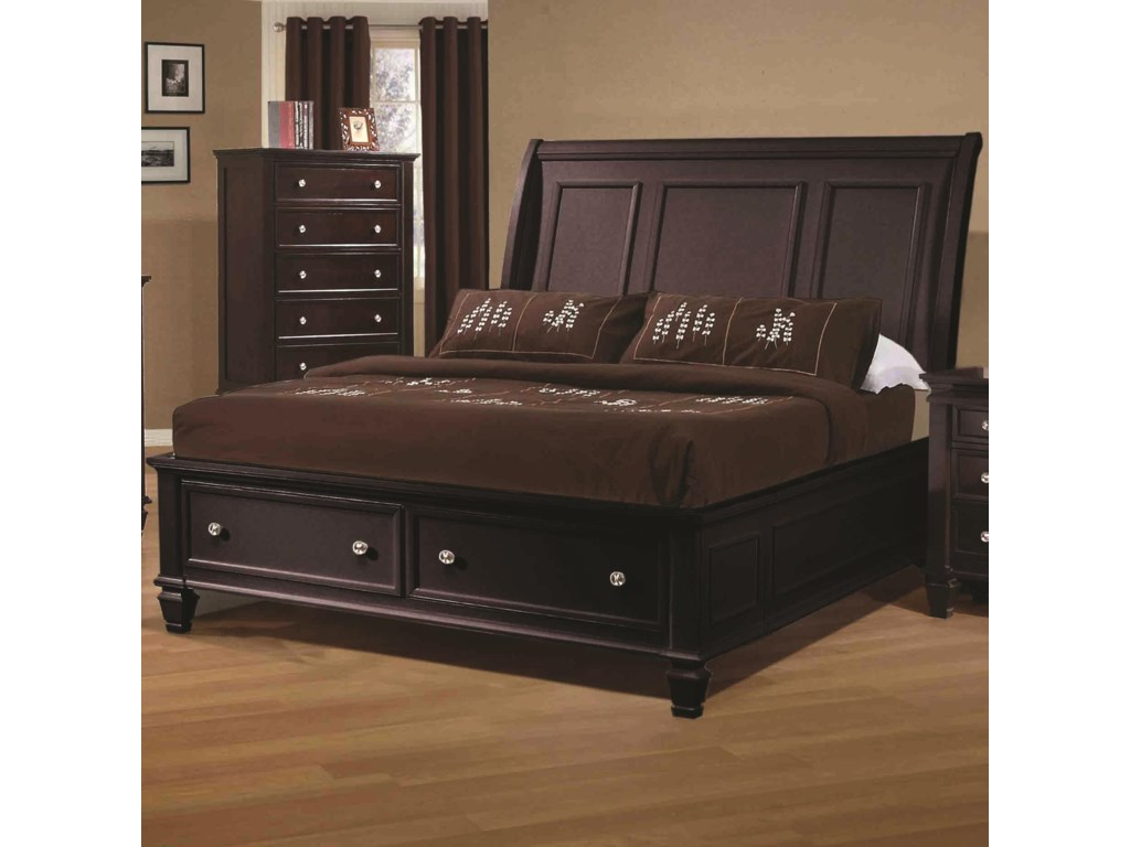 Coaster Sandy BeachQueen Sleigh Bed
