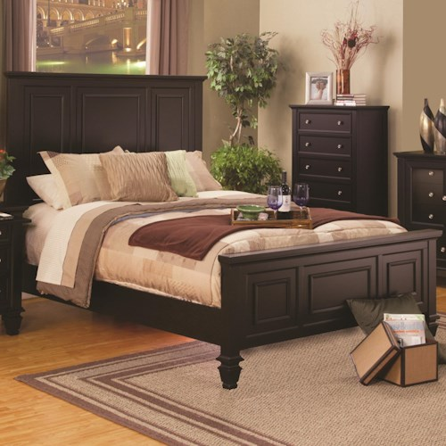 Coaster Sandy Beach Classic California King High Headboard Bed