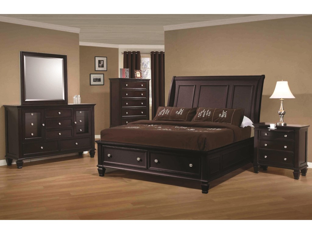 Shown with Sleigh Bed in Room Setting