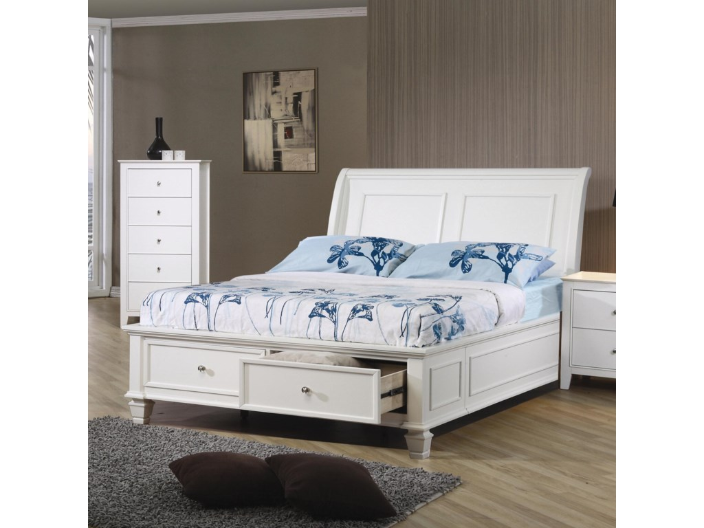 Coaster Sandy BeachFull Sleigh Bed