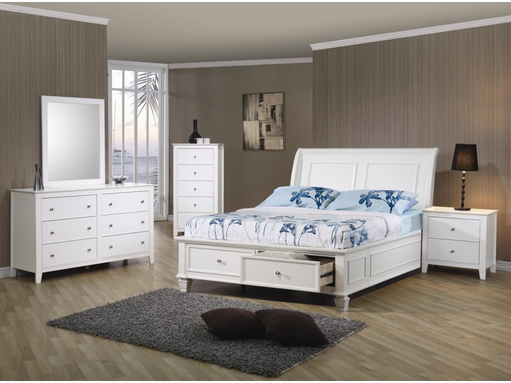 Coaster Sandy BeachTwin Sleigh Bed