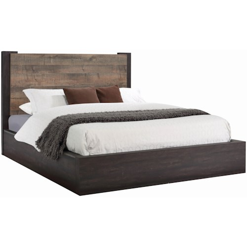 Coaster Weston Contemporary California King Bed with Rustic 2-Tone Look