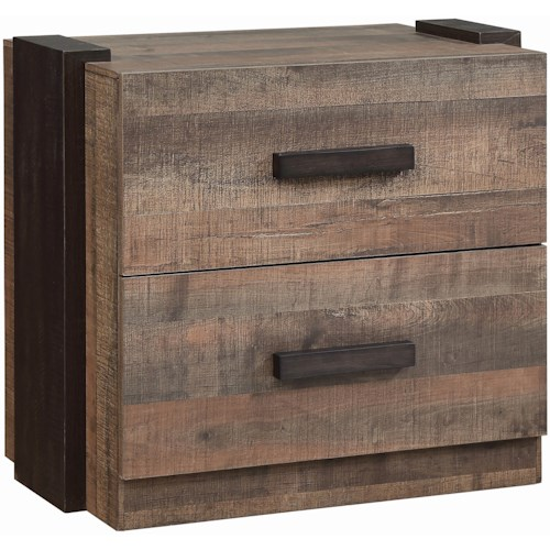 Coaster Weston Contemporary Night Stand with Felt-Lined Top Drawer