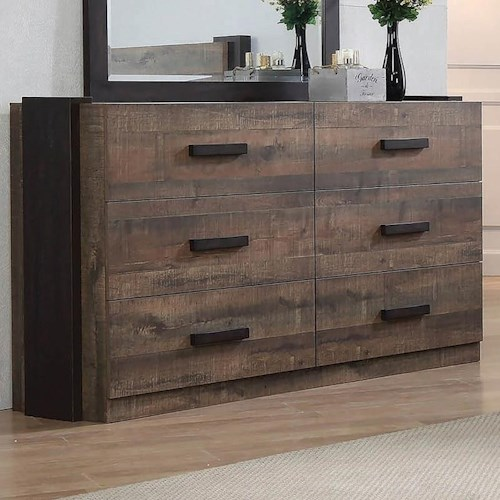 Coaster Weston Contemporary Dresser with Felt-Lined Top Drawers