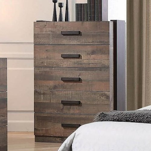 Coaster Weston Contemporary Chest of Drawers with Felt-Lined Top Drawer