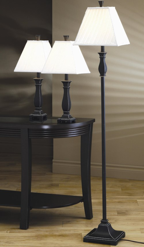 Coaster 3 Pack Lamp Sets Traditional 3 Piece Lamp Set