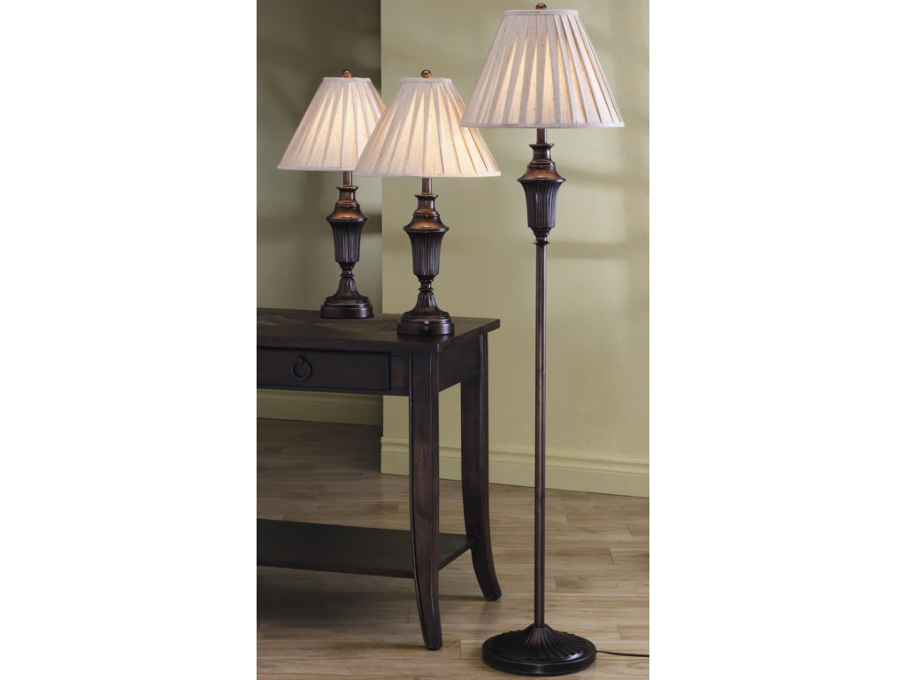 Coaster 3 Pack Lamp Sets3 Piece Lamp Set