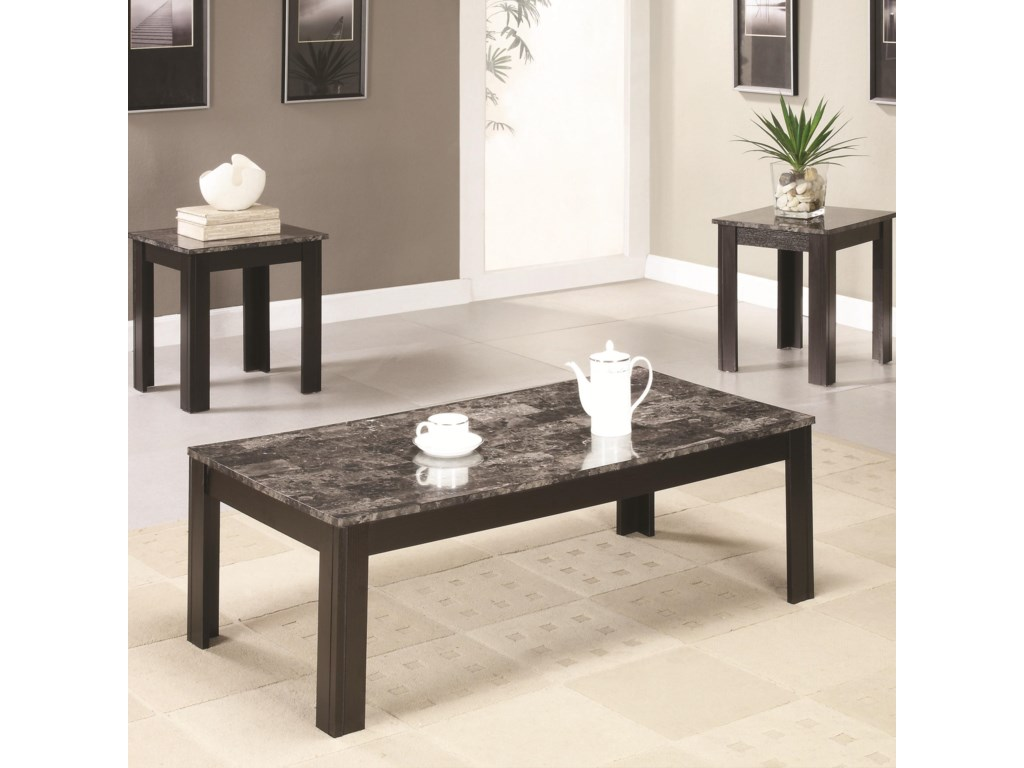 Coaster Occasional Table Sets3PC Occasional Group