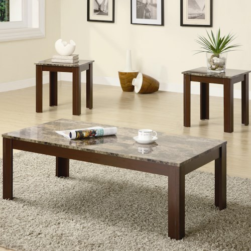 Coaster Occasional Table Sets Contemporary Cocktail and End Table Set