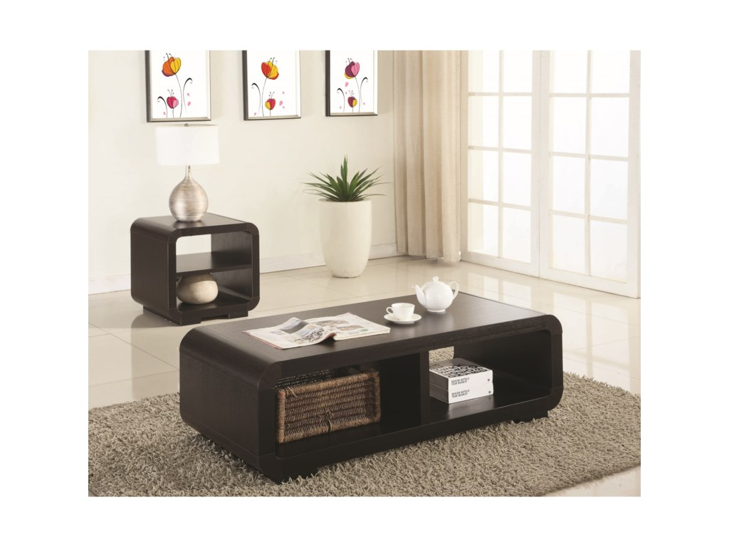 Coaster Occasional Table Sets 2 Piece Contemporary Occasional Set ...