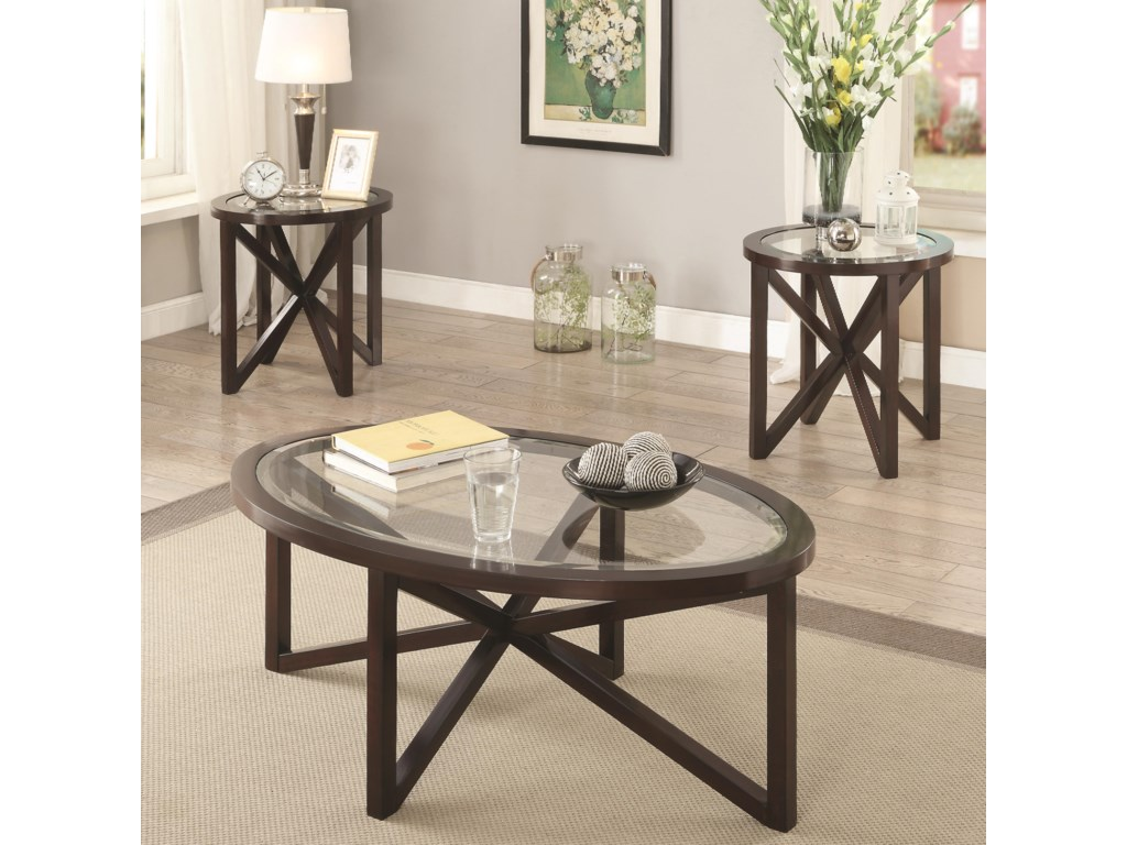 ROOMS # 2 Collection Occasional Table Sets3 Piece Accent Table Set