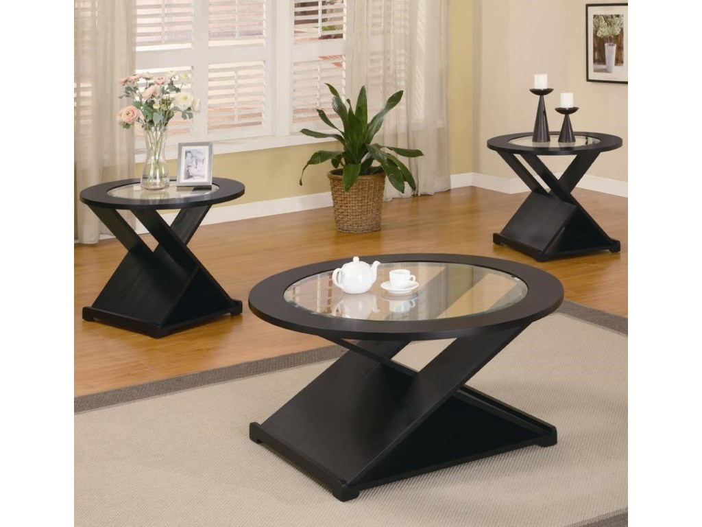 coaster occasional table sets contemporary  piece round  - coaster occasional table sets contemporary  piece round occasional tableset  dunk  bright furniture  occasional groups