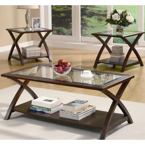 Coaster Occasional Table Sets Coffee Table and End Table Set