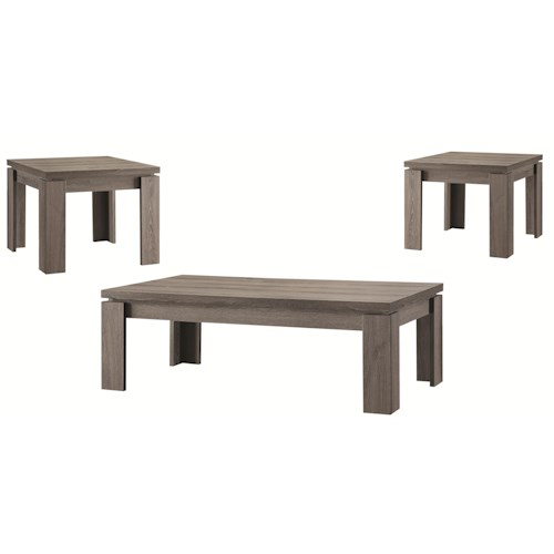 Coaster Occasional Table Sets Weathered 3PC Occasional Set
