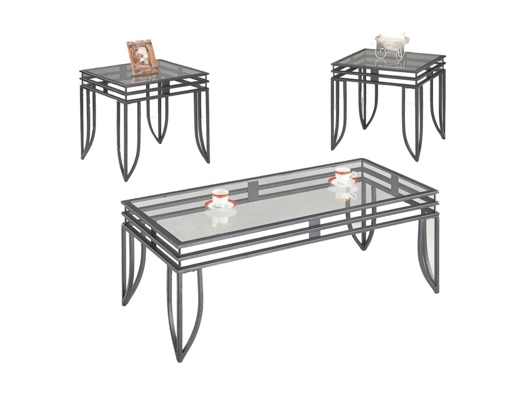 Coffee Table 3 Piece Sets.Occasional Table Sets Contemporary 3 Piece Occasional Table Set With Glass Tops By Coaster At A1 Furniture Mattress