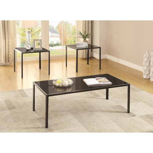 Coaster Occasional Table Sets Contemporary Three Piece Occasional Set