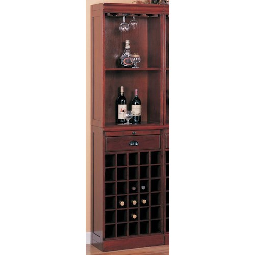 Coaster Lambert Traditional Wine Wall Bar Unit