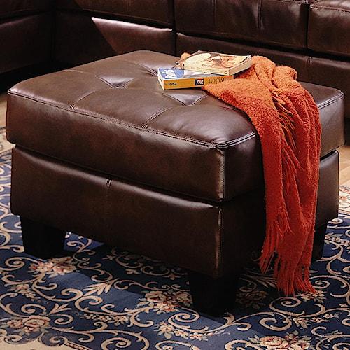 Coaster Samuel Contemporary Leather Ottoman