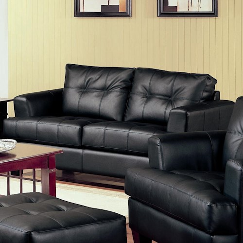 Coaster Samuel Contemporary Leather Loveseat