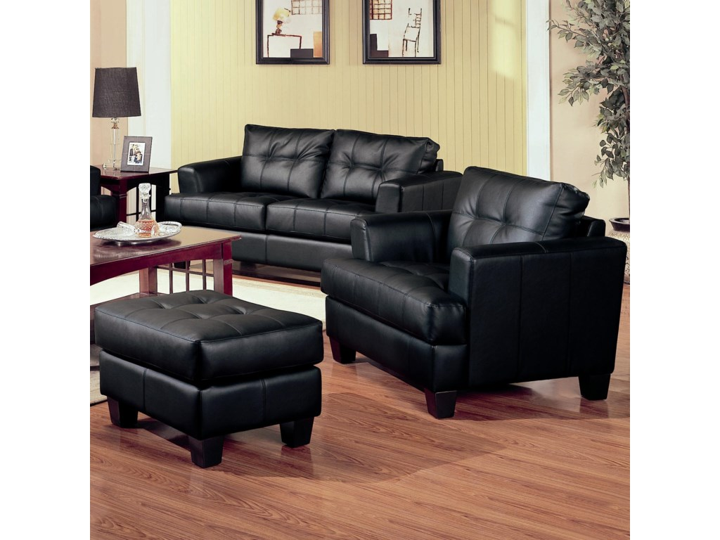 Coaster SamuelChair and Ottoman