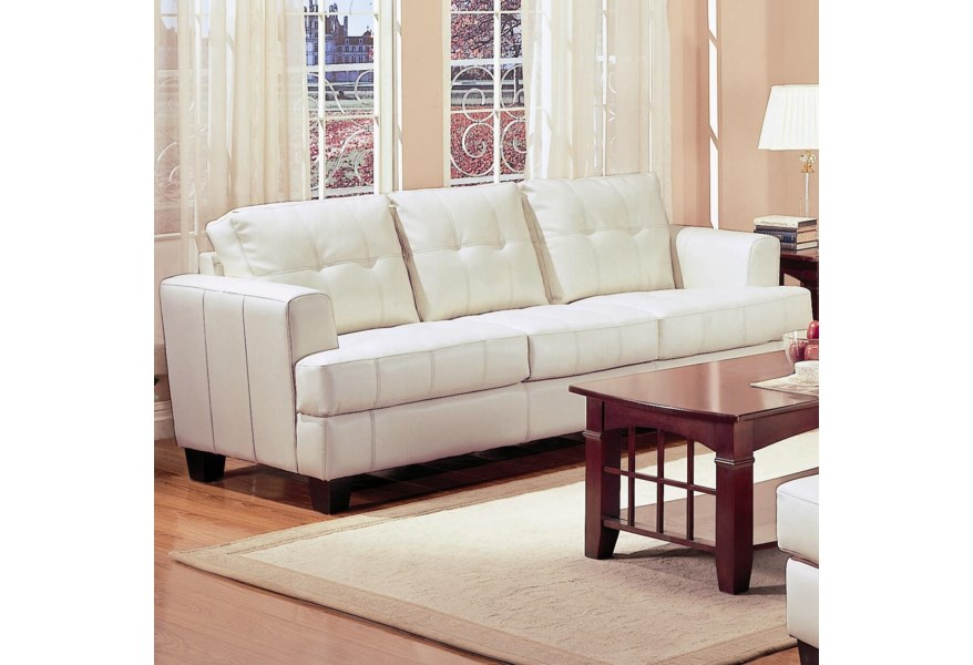 Awesome Samuel Contemporary Leather Sofa By Coaster At Furniture Superstore Rochester Mn Gmtry Best Dining Table And Chair Ideas Images Gmtryco