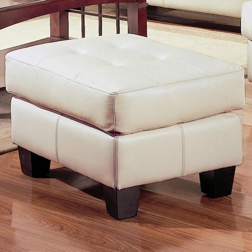 Coaster Samuel Contemporary Leather Ottoman