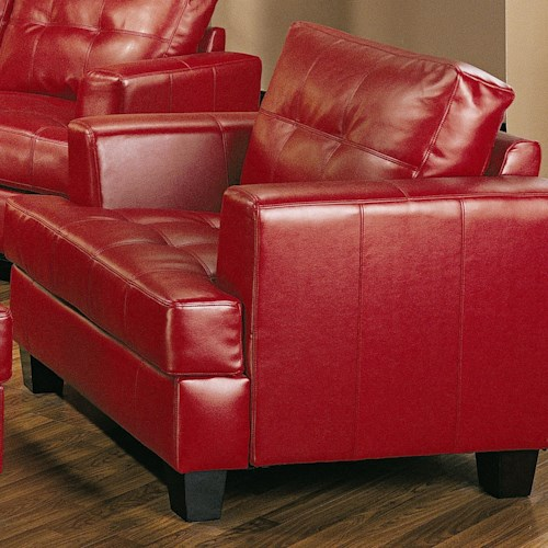 Coaster Samuel Contemporary Leather Chair