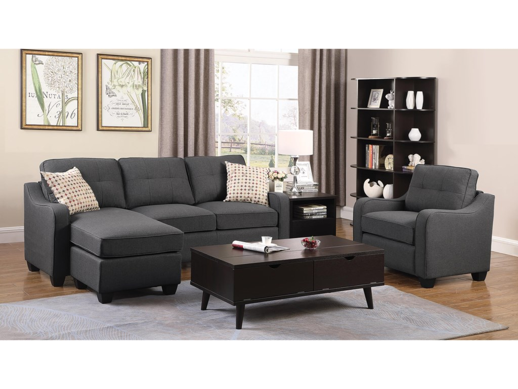 ROOMS # 2 Collection 508320Sectional with Chaise