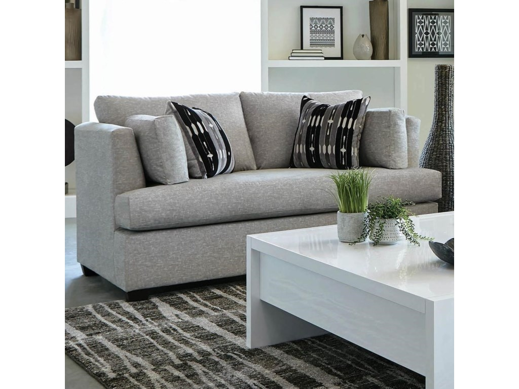 Coaster Lola 508602 Contemporary Love Seat With Track Arms Dunk